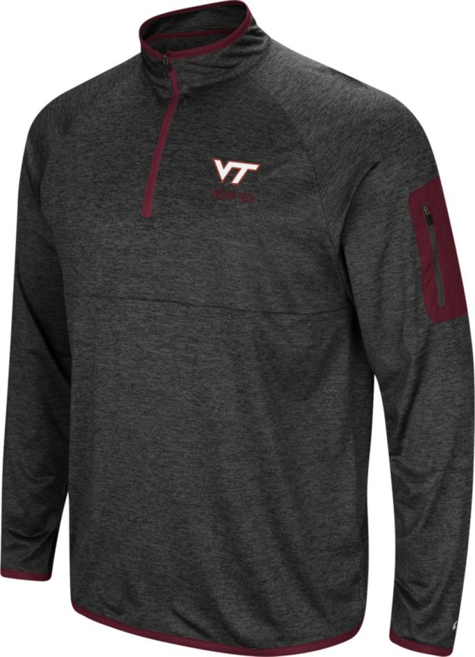 low priced 531e3 70f2d Colosseum Men's Virginia Tech Hokies Indus River Quarter-Zip Black Shirt