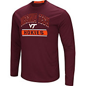 Colosseum Men's Virginia Tech Hokies Maroon Ganges Long Sleeve T-Shirt