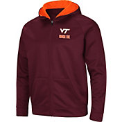 Colosseum Men's Virginia Tech Hokies Maroon Full-Zip Hoodie