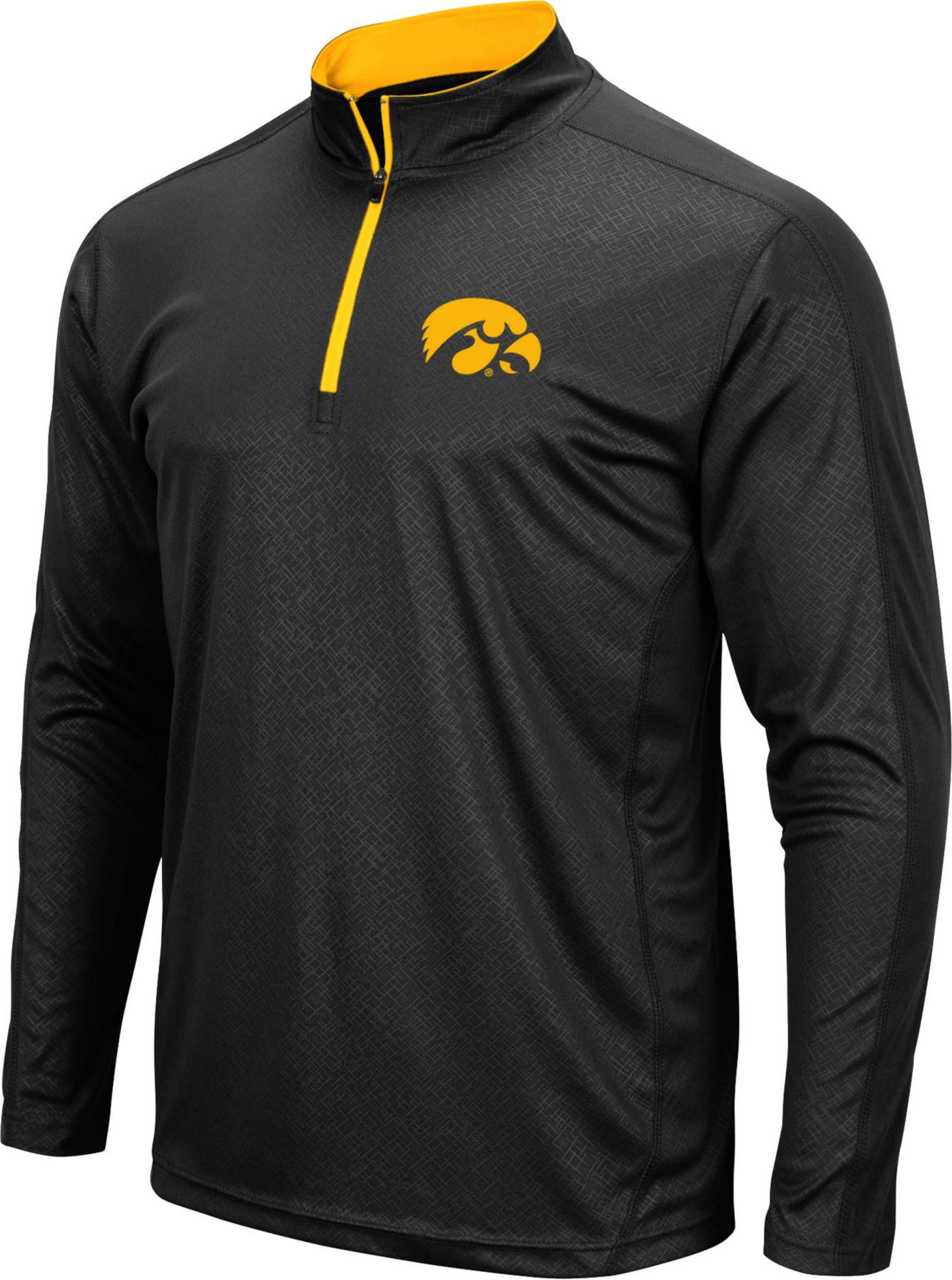 Colosseum Men's Iowa Hawkeyes Loggerhead Quarter-Zip Black Shirt