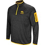 Colosseum Men's Iowa Hawkeyes Indus River Quarter-Zip Black Shirt