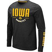 Colosseum Men's Iowa Hawkeyes Streetcar Long Sleeve Black T-Shirt