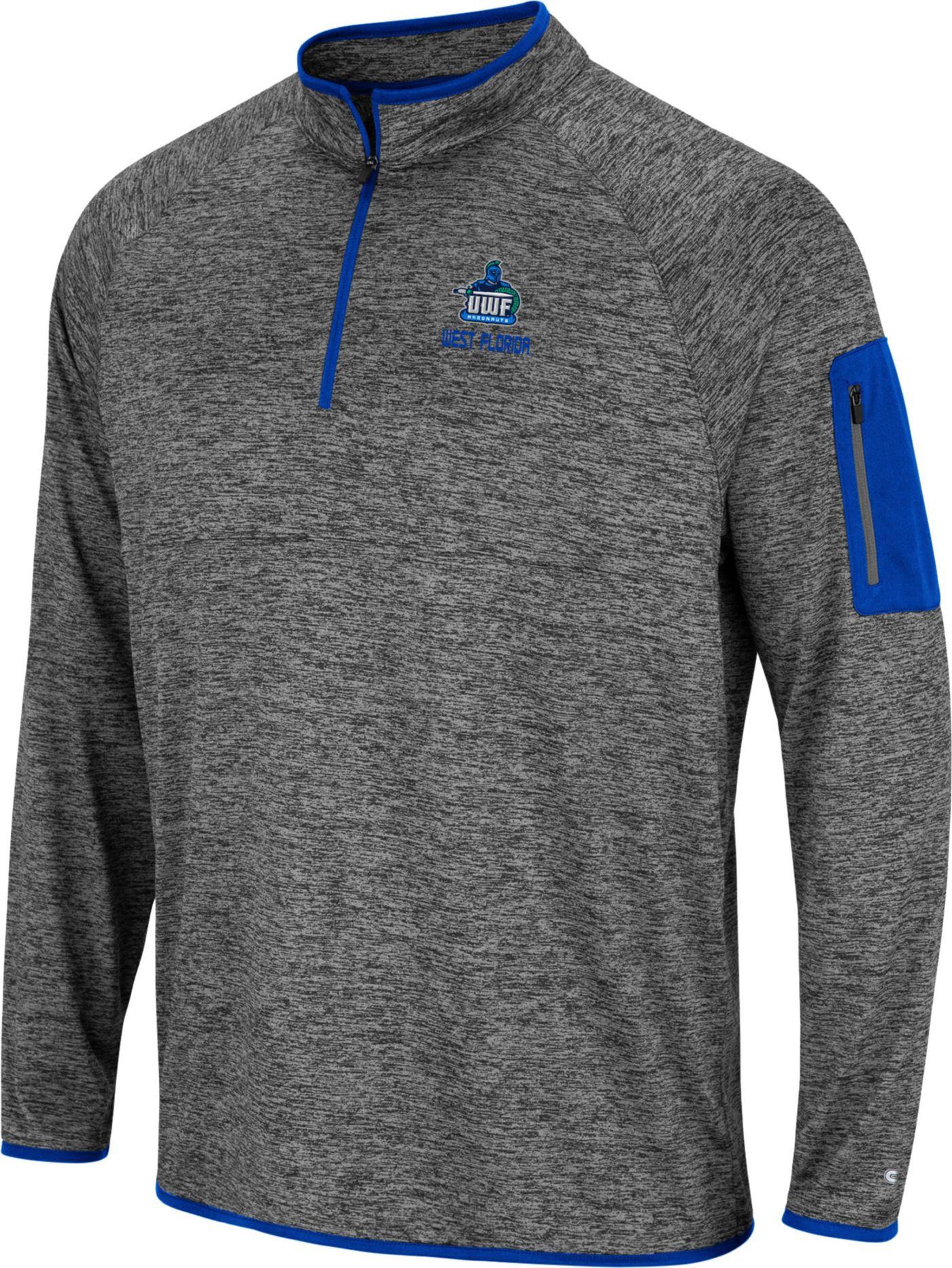 Colosseum Men's West Florida Argonauts Grey Indus River Quarter-Zip Shirt