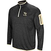 Colosseum Men's Wake Forest Demon Deacons Indus River Quarter-Zip Black Shirt