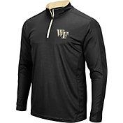 Colosseum Men's Wake Forest Demon Deacons Loggerhead Quarter-Zip Black Shirt