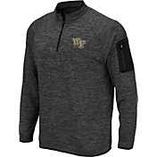 Colosseum Men's Wake Forest Demon Deacons Grey Quarter-Zip Shirt