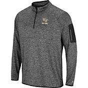 Colosseum Men's Wake Forest Demon Deacons Grey Indus River Quarter-Zip Shirt