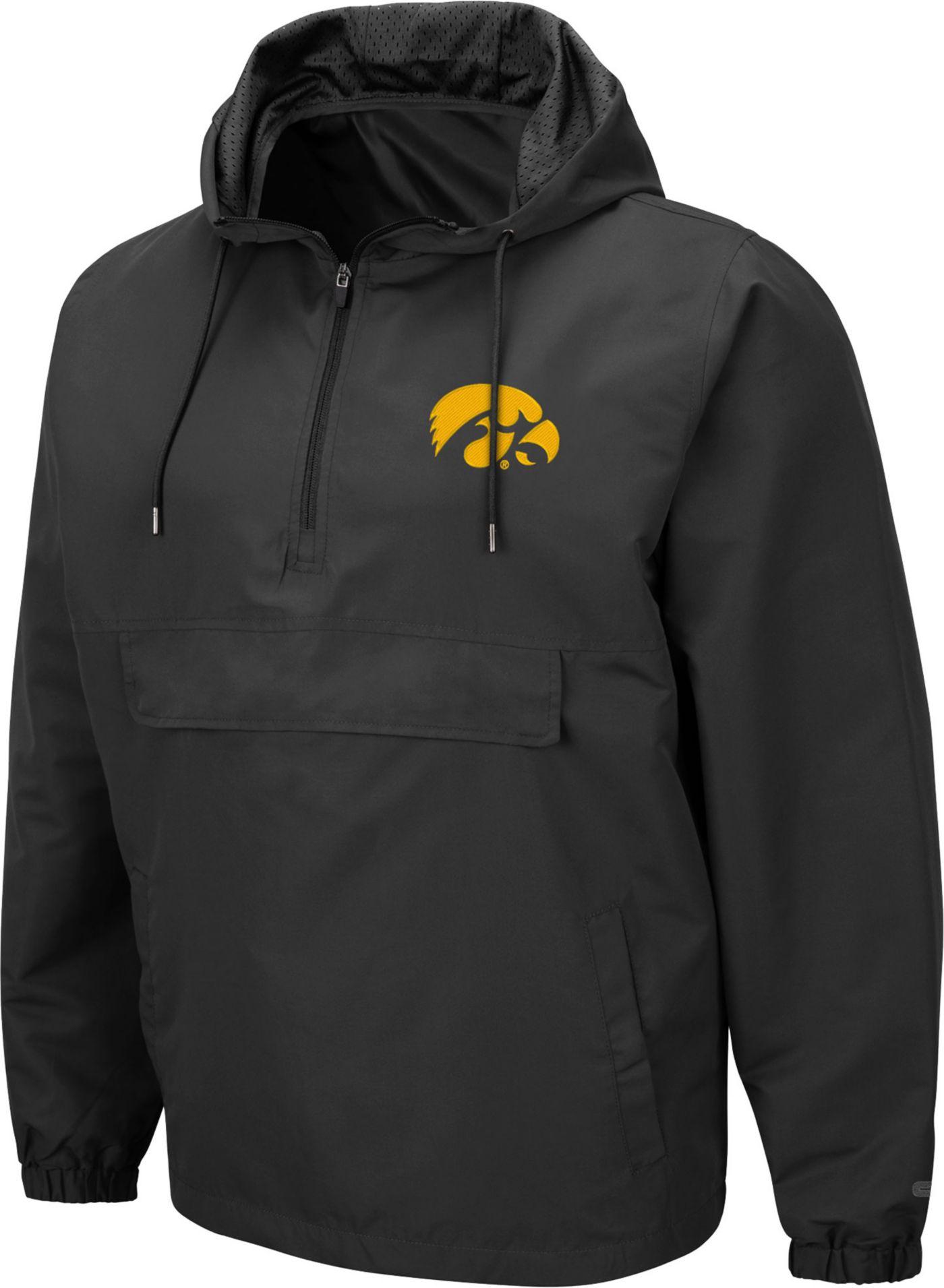 Colosseum Men's Iowa Hawkeyes Grey Dolph Half-Zip Jacket