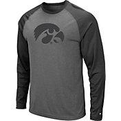 Colosseum Men's Iowa Hawkeyes Grey Rad Tad Raglan Long Sleeve T-Shirt