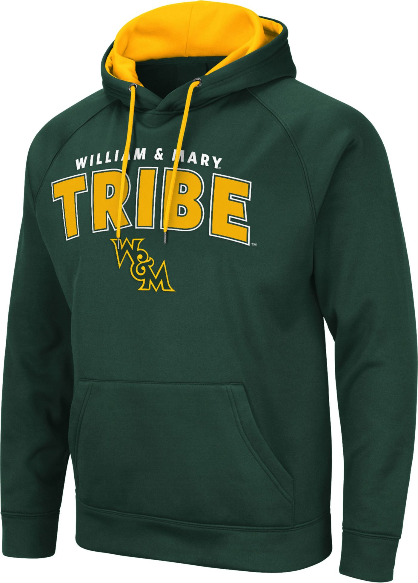 Colosseum Men's William & Mary Tribe Green Pullover Hoodie