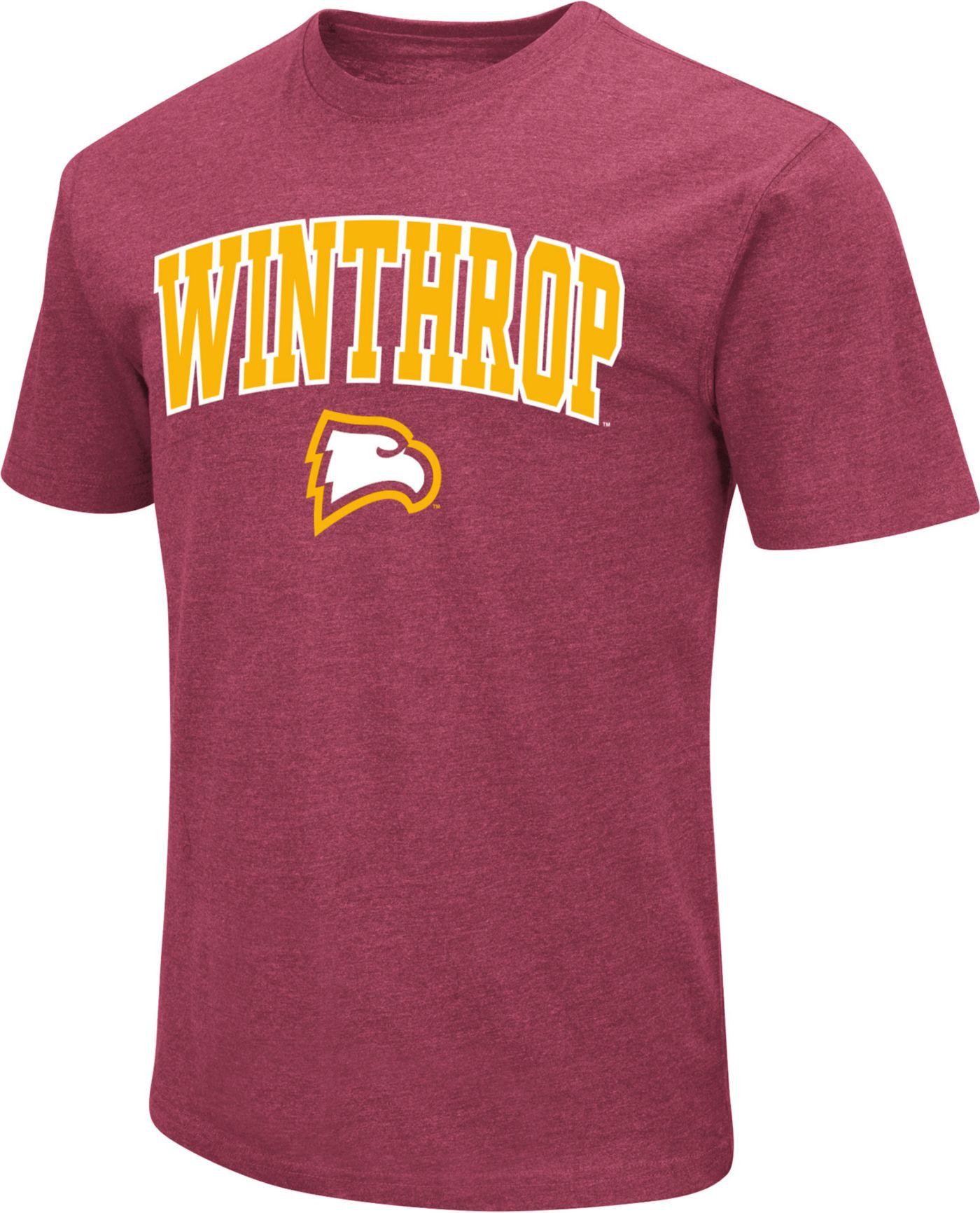 Colosseum Men's Winthrop  Eagles Garnet Dual Blend T-Shirt