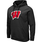 Colosseum Men's Wisconsin Badgers Pullover Black Hoodie