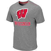 Colosseum Men's Wisconsin Badgers Grey Campinas T-Shirt