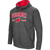 Colosseum Men's Wisconsin Badgers Grey Pullover Hoodie