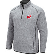 Colosseum Men's Wisconsin Badgers Grey Amur Quarter-Zip Shirt