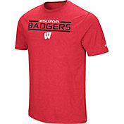 Colosseum Men's Wisconsin Badgers Red Nile T-Shirt