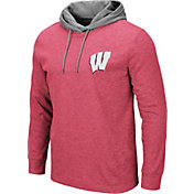 Colosseum Men's Wisconsin Badgers Red Milhouse Long Sleeve Hooded T-Shirt