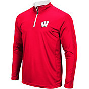 Colosseum Men's Wisconsin Badgers Red Loggerhead Quarter-Zip Shirt