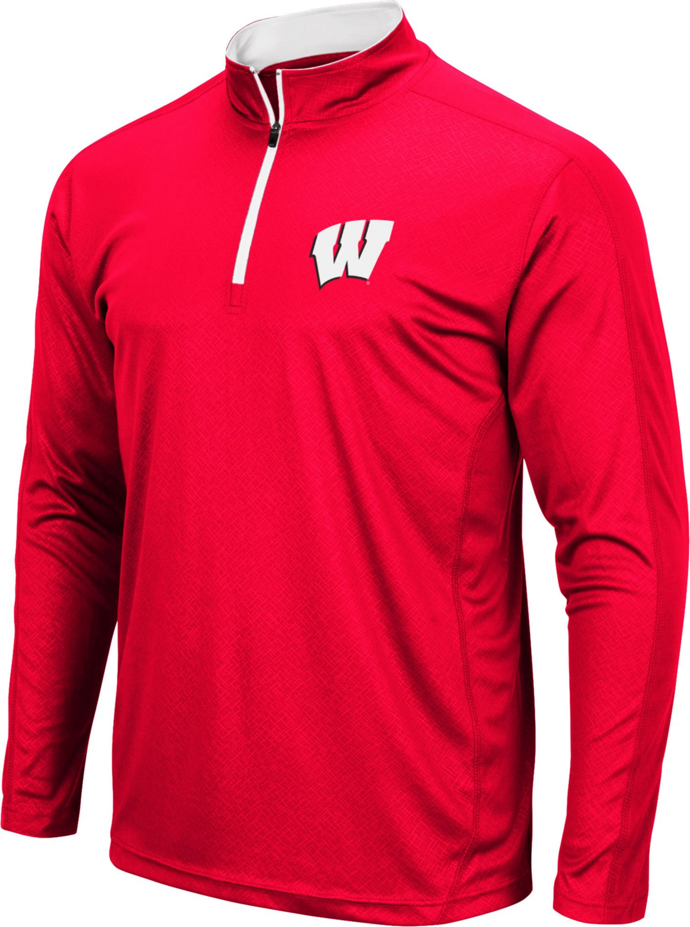 Colosseum Men's Wisconsin Badgers Red Loggerhead Quarter-Zip Shirt