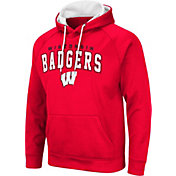 Colosseum Men's Wisconsin Badgers Red Pullover Hoodie