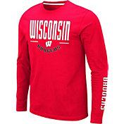 Colosseum Men's Wisconsin Badgers Red Streetcar Long Sleeve T-Shirt