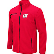 Colosseum Men's Wisconsin Badgers Red Willie Full-Zip Jacket