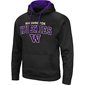 Colosseum Men's Washington Huskies Pullover Black Hoodie