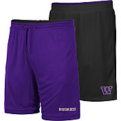Colosseum Men's Washington Huskies Purple/Black Wiggum Reversible Shorts