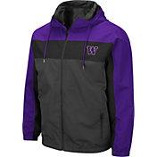 Colosseum Men's Washington Huskies Grey Brockman Full-Zip Jacket