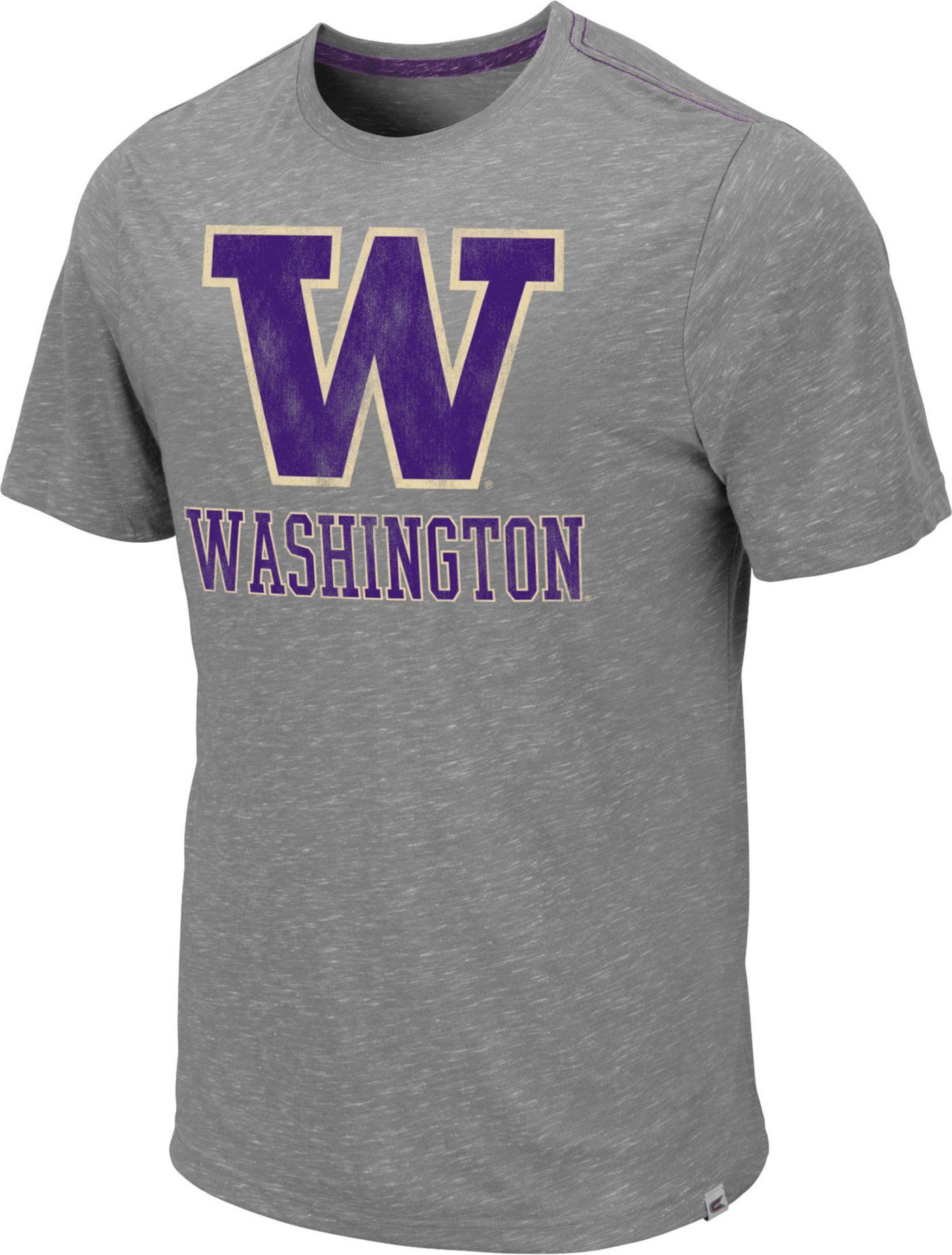 Colosseum Men's Washington Huskies Grey Campinas T-Shirt