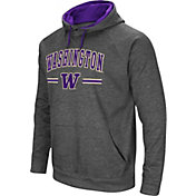 Colosseum Men's Washington Huskies Grey Pullover Hoodie