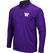 Colosseum Men's Washington Huskies Purple Loggerhead Quarter-Zip Shirt
