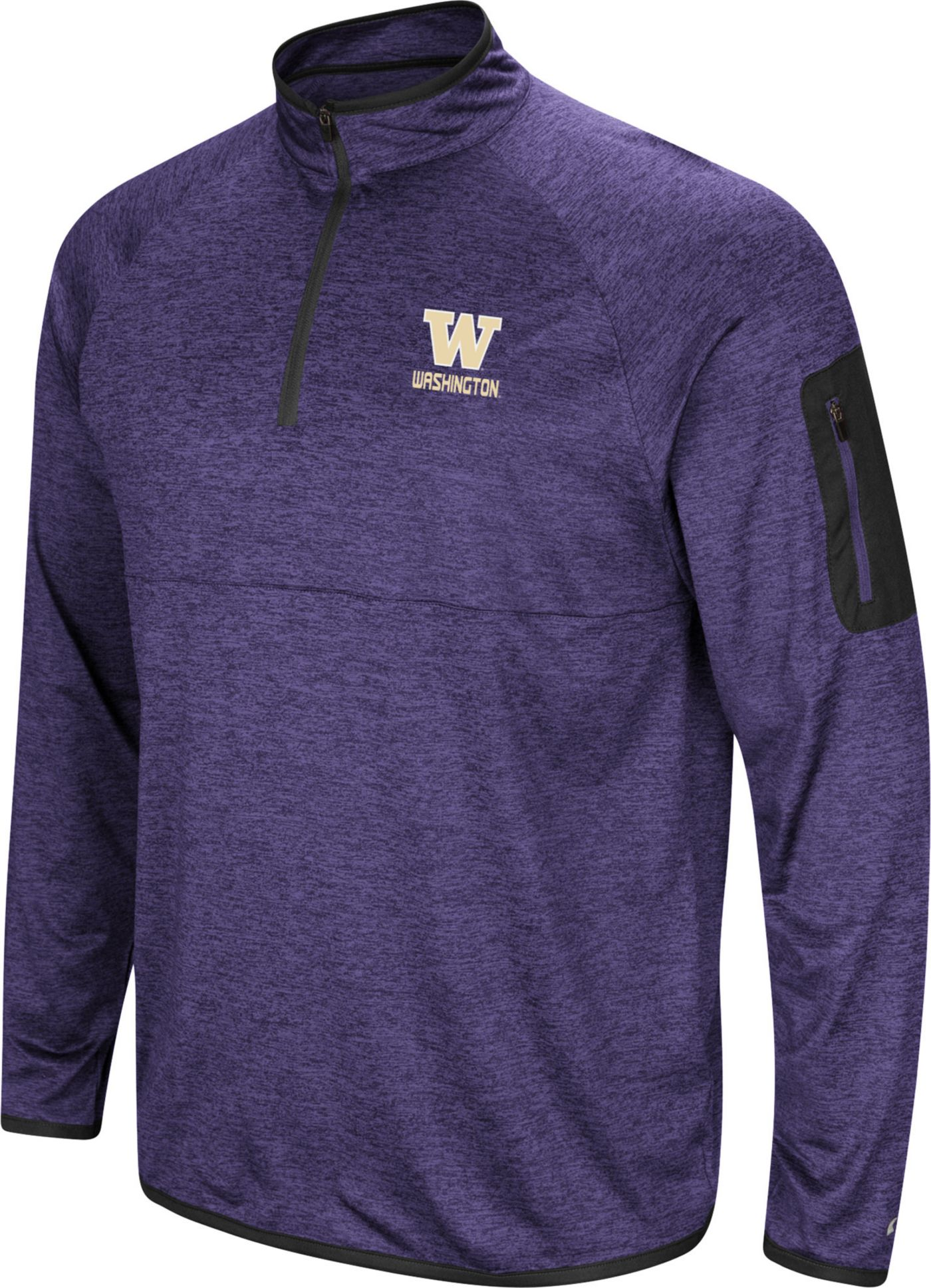 Colosseum Men's Washington Huskies Purple Indus River Quarter-Zip Shirt