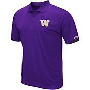 Colosseum Men's Washington Huskies Purple Fairway Polo