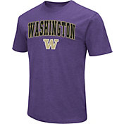 Colosseum Men's Washington Huskies Dual Blend Purple T-Shirt