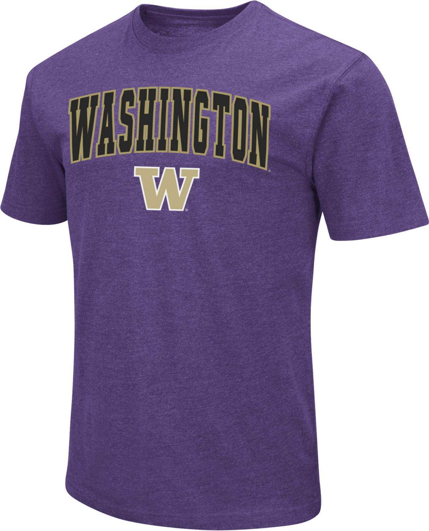 Colosseum Men's Washington Huskies Dual Blend Purple T-Shirt