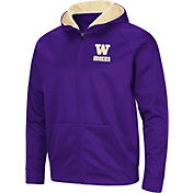 Colosseum Men's Washington Huskies Purpe Full-Zip Hoodie