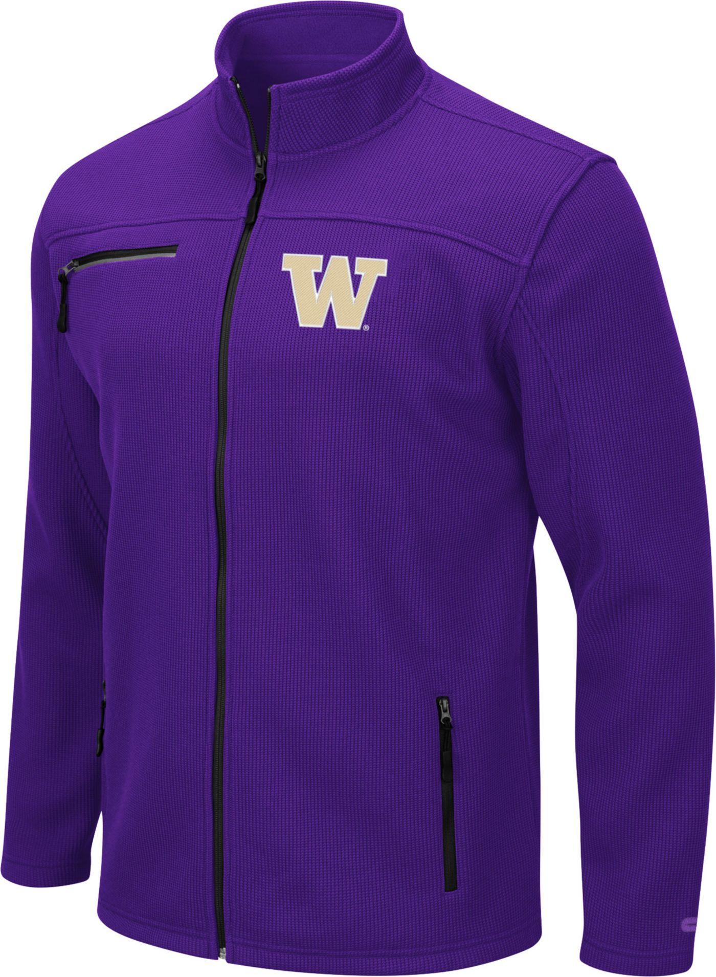 Colosseum Men's Washington Huskies Purple Willie Full-Zip Jacket