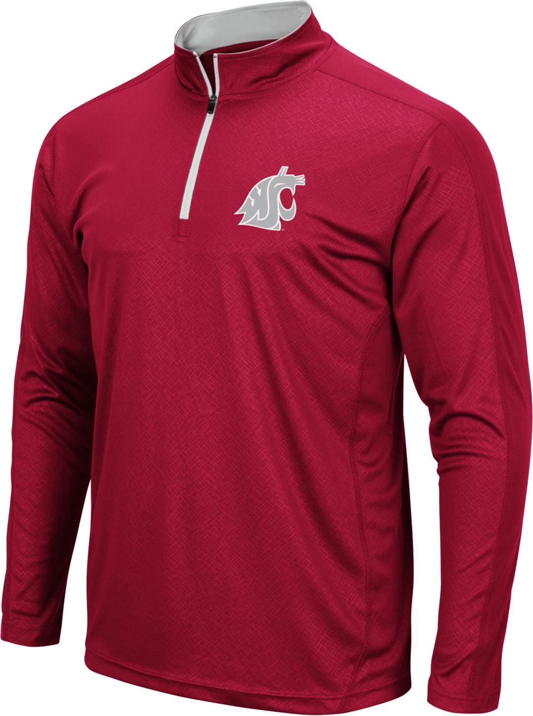 separation shoes 61911 2ea74 Colosseum Men's Washington State Cougars Crimson Loggerhead Quarter-Zip  Shirt
