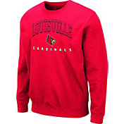 Colosseum Men's Louisville Cardinals Cardinal Red Comic Book Crew Sweatshirt