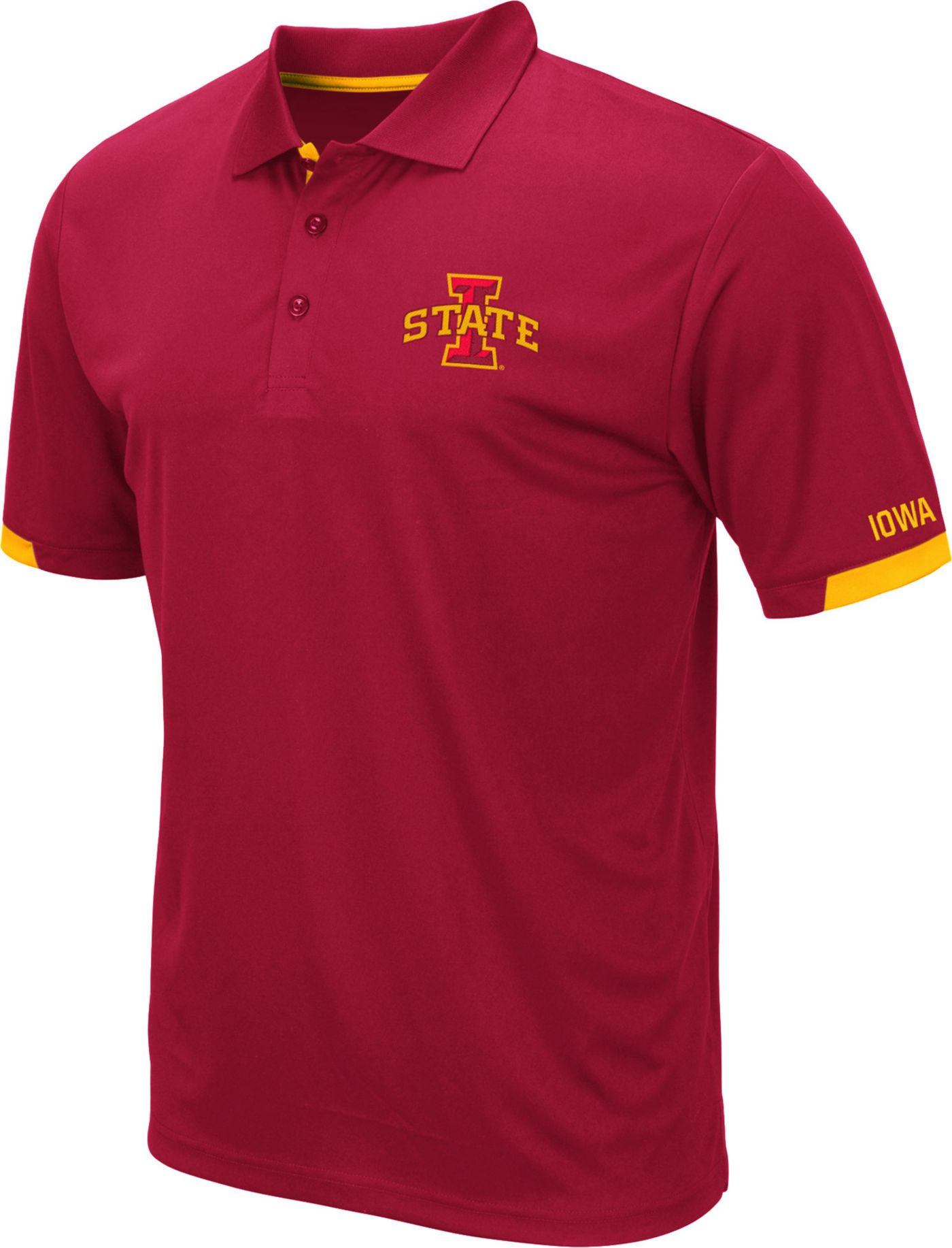 Colosseum Men's Iowa State Cyclones Cardinal Fairway Polo