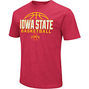 Colosseum Men's Iowa State Cyclones Red Dual Blend Basketball T-Shirt