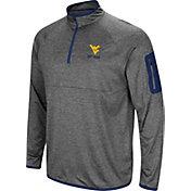 Colosseum Men's West Virginia Mountaineers Grey Indus River Quarter-Zip Shirt