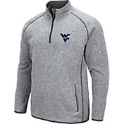 Colosseum Men's West Virginia Mountaineers Grey Amur Quarter-Zip Shirt