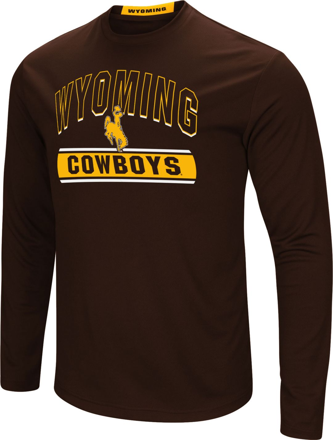 best website 580b7 f7864 Colosseum Men's Wyoming Cowboys Brown Ganges Long Sleeve T-Shirt