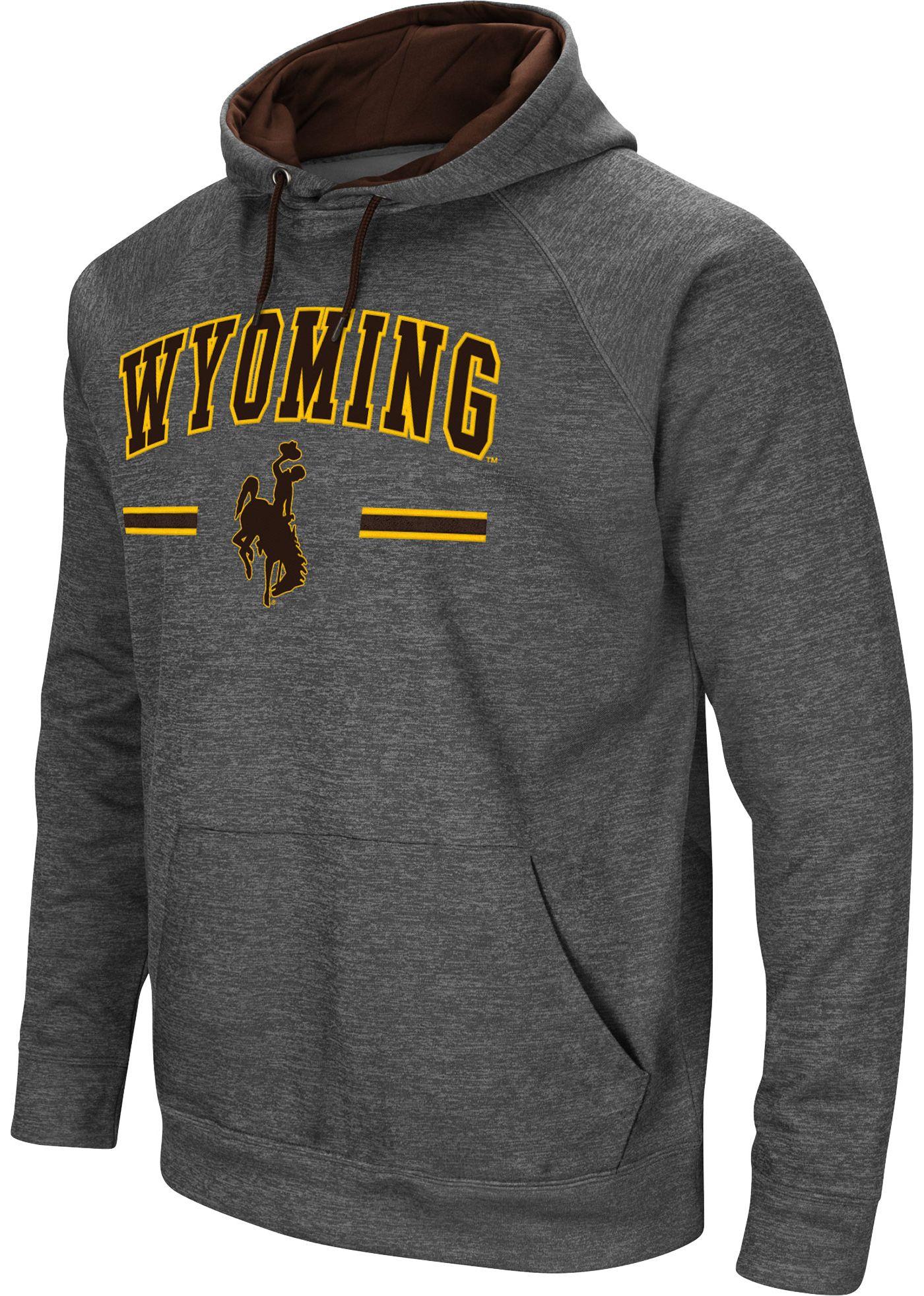 Colosseum Men's Wyoming Cowboys Grey Pullover Hoodie