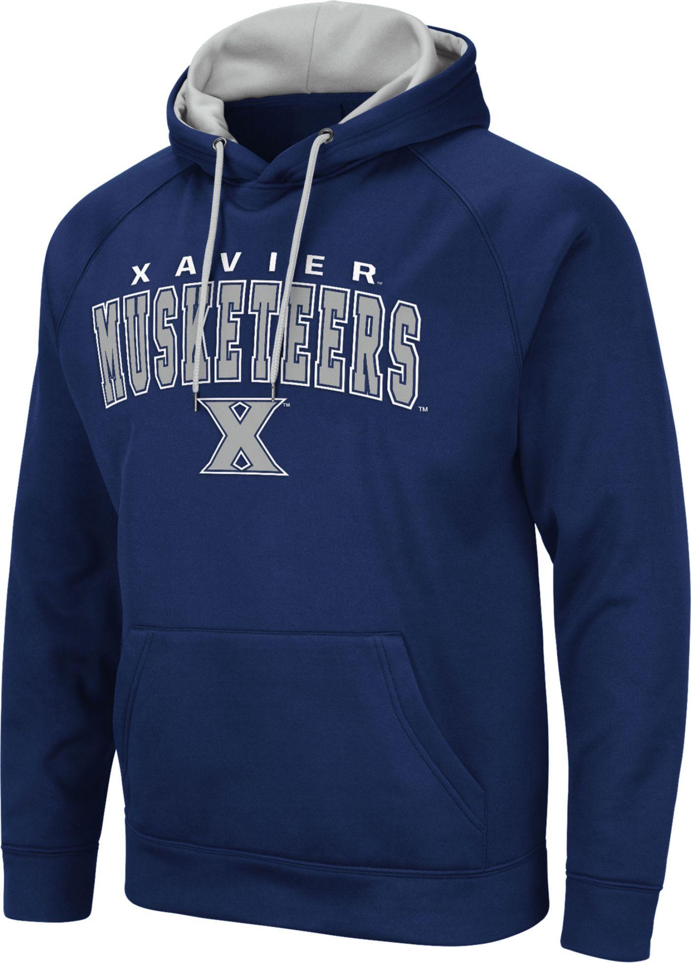 Colosseum Men's Xavier Musketeers Blue Pullover Hoodie