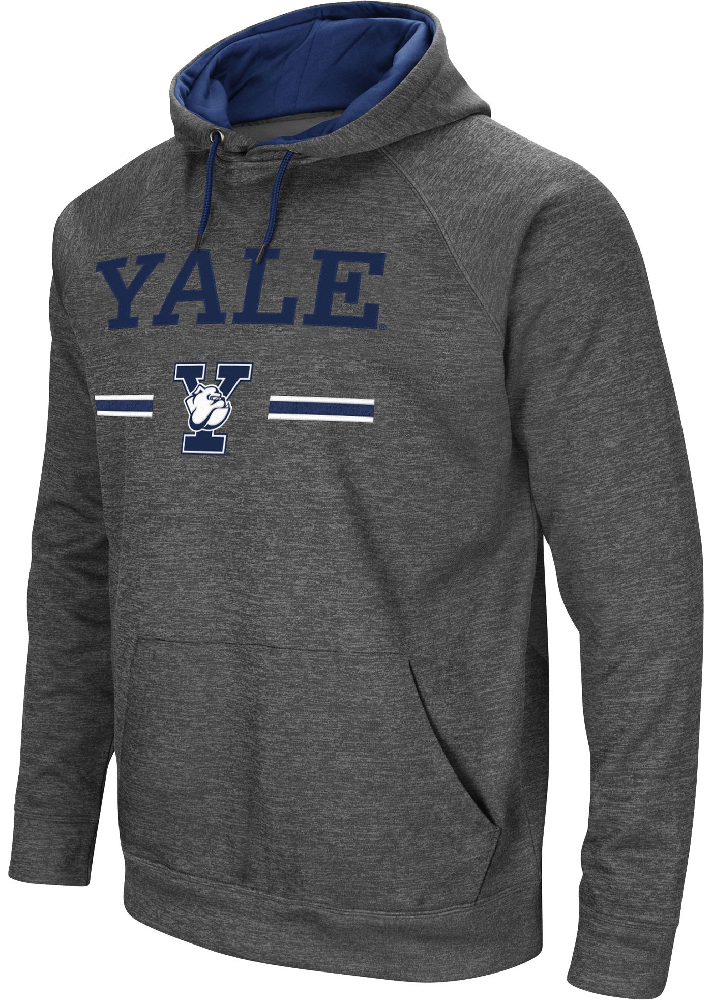 Colosseum Men's Yale Bulldogs Grey Pullover Hoodie