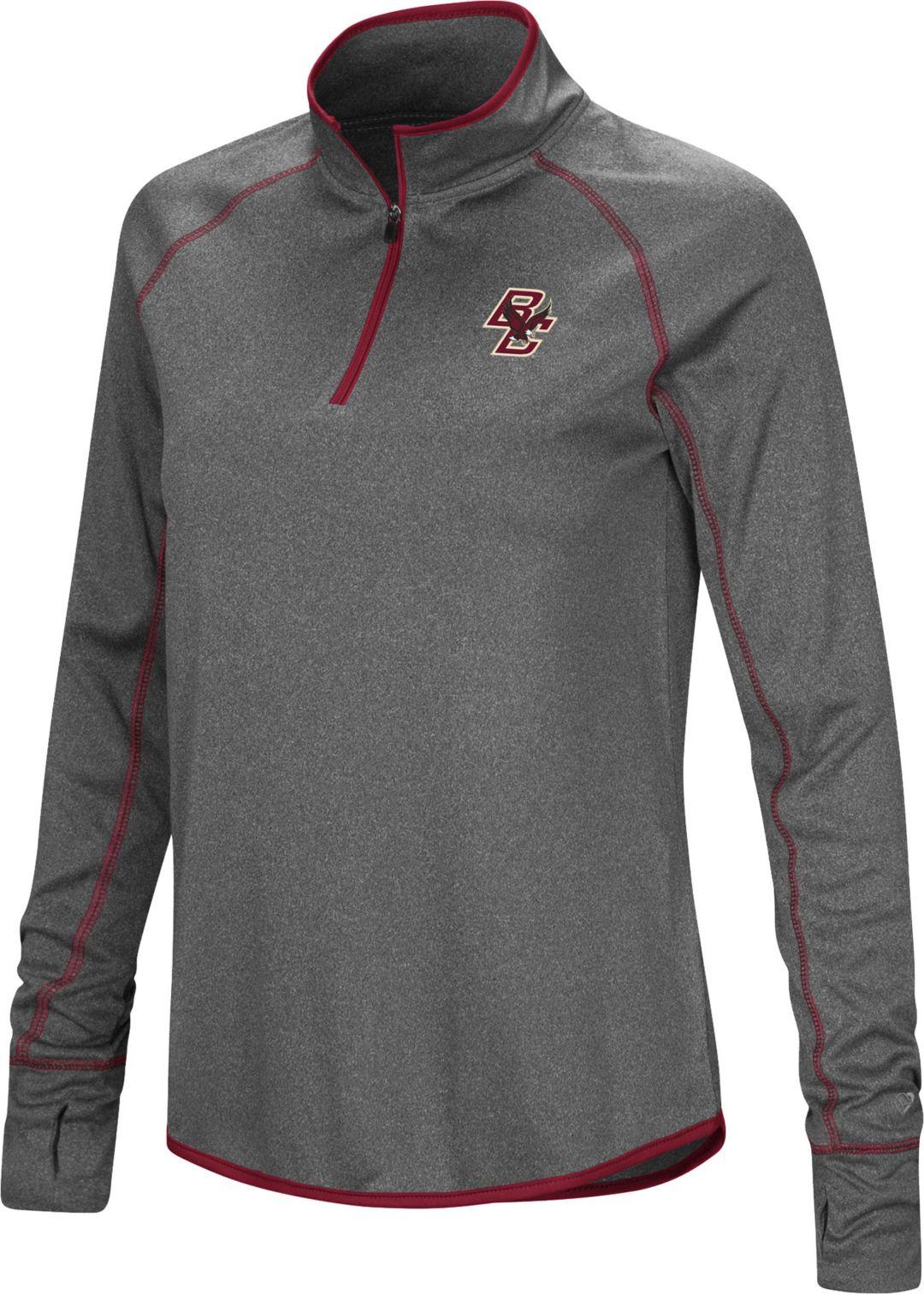 newest 2c390 4e0f5 Colosseum Women's Boston College Eagles Grey Stingray Quarter-Zip Shirt