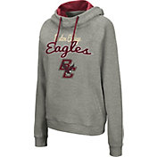 Colosseum Women's Boston College Eagles Grey Studio Funnel Pullover Hoodie